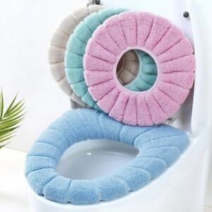 Bathroom Toilet Seat Cover Soft Pad Cushion Closestool Warm Mat Washable