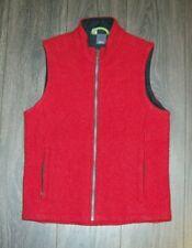 IBEX Women's Heavy Wool Vest Red Made in USA LADIES MEDIUM