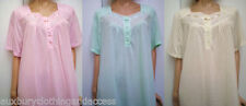 Knee Length Patternless Nightdresses & Shirts for Women