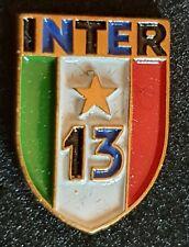 Distintivo calcio INTER badge INTERNAZIONAL MILANO no piedino 13° SCUDETTO raro