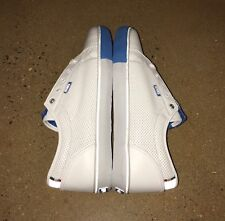 DVS Luster X Cinelli Size 12 White Blue Leather Bike BMX DC Skate Shoes Sneakers