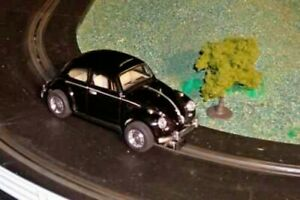 Scalextric conversion old type 1962 Volkswagen Beetle car - superb in black
