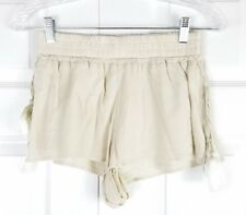 NWT Dolce Vita womens size XS cream elastic waist pull on tie side boho shorts