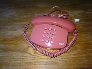 VINTAGE PINK TELEPHONE. GOOD WORKING ORDER. PLUG IN AND GO RETRO.