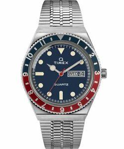 Q Timex Reissue 38mm Stainless Steel Quartz Men's Watch TW2T80700ZV