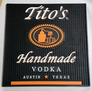 Tito's Hand Made Vodka Rubber Shot Spill Rail Cocktail Bar Bartender Sevice Mat
