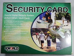 CCTV Analogue Camera PCI Capture Card PC Based DVR 4 BNC Camera Inputs