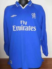 Chelsea  Long Sleeves Home Shirt (2001/2003) xxl men's #421