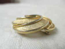 Vintage Trifari Brooch gold tone swirling circles
