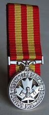Canada Canadian Fire Services Exemplary Service Mini Medal Court - Mounted