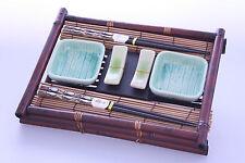 Japanese Bamboo / Ceramic Bowl & Chopstick Dinner Set -- KW15 -- On Sale !!