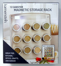 New Kamenstein 12 Canister Magnetic Storage Rack with Tins Spice Crafts Office