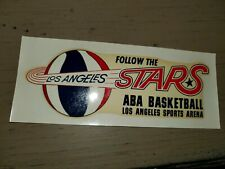 RARE 1969 ABA BASKETBALL LOS ANGELES STARS ABA BASKETBALL MORSE DECAL STICKER