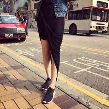 Cotton Blend Long Regular Size Asymmetrical Skirts for Women