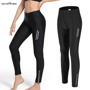 Women Cycling Padded Tights Bike Trousers Bicycle Compression Reflective Pants