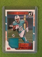 LEONTE CARROO JERSEY ROOKIE CARD Dolphins Football 2016 Donruss#24 Rare Red Foil