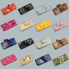 10pcs  Chinese Handmade Vintage Silk  Jewelry Roll Pouch Gift Bag