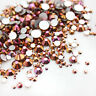 Rose Gold Nail Art Rhinestones FlatBack Glitter Crystal Gems Tips DIY Decoration