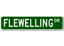 FLEWELLING Street Sign - Personalized Last Name Signs