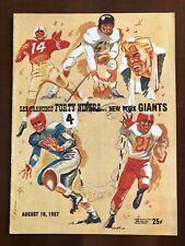 1957 SAN FRANCISCO SF 49ers PRESEASON NFL FOOTBALL PROGRAM v. NEW YORK NY GIANTS