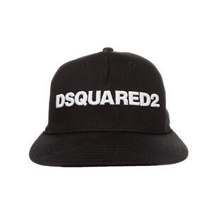 DSQUARED2 Kids Strapback Baseball Cap Size 2 / M Embroidered Logo Flat Peak