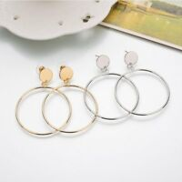Fashion Statement Round Circle Ear Stud Hook Drop Dangle Earrings Women Jewelry