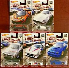 Hot Wheels 2018 Car Culture Cars & Donuts #Dwh90 1:64 Scale (Complete set of 5)