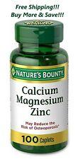 Nature's Bounty Calcium Magnesium Zinc And Vitamin D3 100 ct Free Shipping