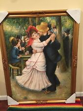 Dance at Bougival 1882-1883-  Oil Painting reproduction with frame(clearance)