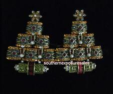 """Heidi Daus """"Deco The Halls"""" Crystal Multi Colored Shoe Clips $100 Retail New"""