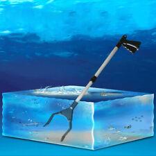 Aquarium Tongs Telescopic 53-66CM Easy Reach Grabber Fish Tank Coral Grass Clip