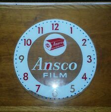 1950's Ansco Glass Only Clock Face Photography Display Advertising Rare Piece