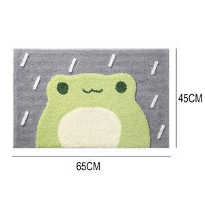Bathroom Rug Microfiber Bath Carpet Non Slip Absorb Water Fluffy Mini Frog Bear