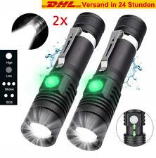 2x Superhelle Taschenlampe CREE LED 80000LM Militär Fackel USB Wiederaufladbar
