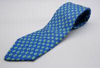 Brooks Brothers Makers Vintage 100% SILK Blue & Green Amoeba Print Foulard Tie