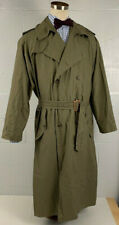 POLO ralph lauren vintage lightweight double breasted green trench coat sz l xl