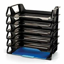 Organize Document Rletter Tray Desk Office File Paper Holder Stackable 6 Pack