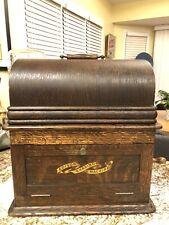 New Listing1905 Wood Edison Shaving Machine Nice! Cylinder Player C D E Phonograph