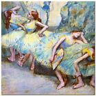Stunning Classic Ballet Art ~ Degas, Dancers in wing ~ CANVAS PRINT 12x12""