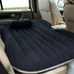 Inflatable Car Bed Travel Air Mattress Back Seat Sleep Rest Pillow Cushion Pads