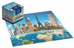 World Landmarks - 100 Piece Jigsaw Puzzle Cube