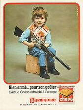 Publicité 1965  GRINGOIRE biscuit au chocolat pour le gouter