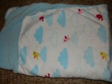 Ln Circo Birds Clouds Plush Velour Sherpa Fleece Baby Crib Blanket