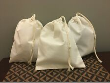 "8""x12"" Cotton Single Drawstring Muslin Bags (Natural Color)"