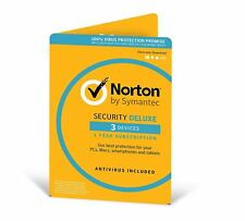 Norton Internet Security DELUXE 2018 3 Device 1 Year *Emailed activation Key*