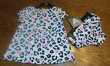Sz 3-6 Month Adorable leopard print cotton dress by Amy Coe Hot Pink Black White