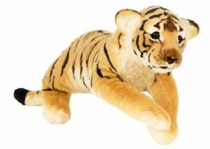 Plüschtier XL Brauner Tiger 60 cm Kuscheltier Softtier Stofftier Raubkatze