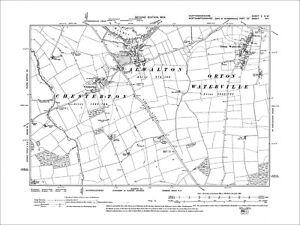 OLD ORDNANCE SURVEY MAP NORTH HUNTINGDONSHIRE CHATTERIS 1905 RAMSEY YAXLEY