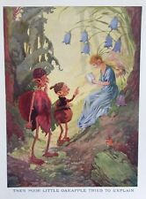 Cute FAIRIES APPLEOAK PEOPLE  BY FRANK ADAMS VINTAGE Art Print 1938 MYTHICAL