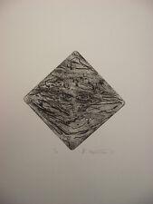 "Marie Pospisilova: ""Komposition mit Augen"" Radierung, Aqautinta, 2/10, 1972"